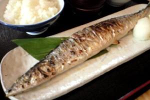 秋刀魚の塩焼定食